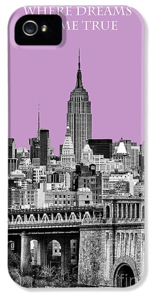 Yellow Taxi iPhone 5 Cases - The Empire State Building Pantone african violet light iPhone 5 Case by John Farnan