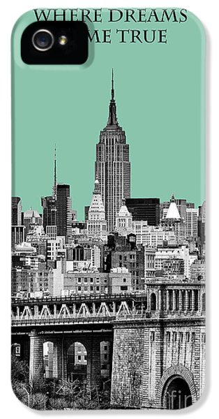 Yellow Taxi iPhone 5 Cases - The Empire State Building Pantone Jade iPhone 5 Case by John Farnan