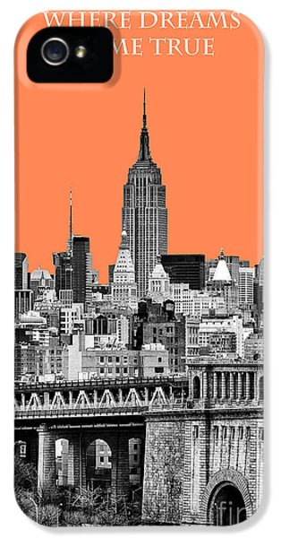 Yellow Taxi iPhone 5 Cases - The Empire State Building pantone nectarine iPhone 5 Case by John Farnan