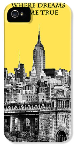 Yellow Taxi iPhone 5 Cases - The Empire State Building pantone yellow iPhone 5 Case by John Farnan