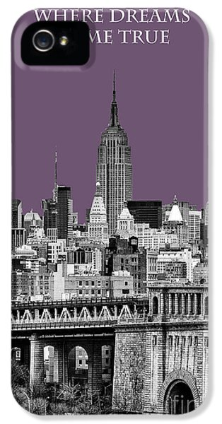 Yellow Taxi iPhone 5 Cases - The Empire State Building Plum iPhone 5 Case by John Farnan