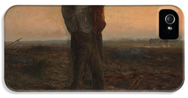 End Of Days iPhone 5 Cases - The End of the Day Effect of Evening  iPhone 5 Case by Jean-Francois Millet