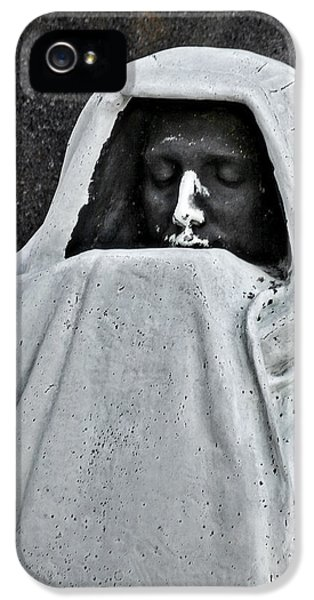 Dexter iPhone 5 Cases - The Face of Death - Graceland Cemetery Chicago iPhone 5 Case by Christine Till