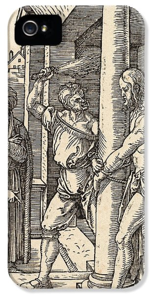 Son Of God iPhone 5 Cases - The Flagellation iPhone 5 Case by Albrecht Durer