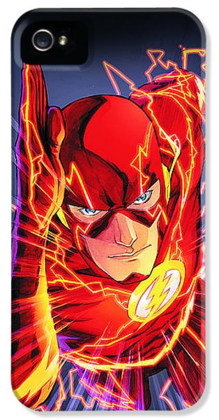 Flash iPhone 5 Cases - The Flash iPhone 5 Case by FHT Designs