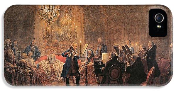 The Flute Concert IPhone 5 / 5s Case by Adolph Friedrich Erdmann von Menzel