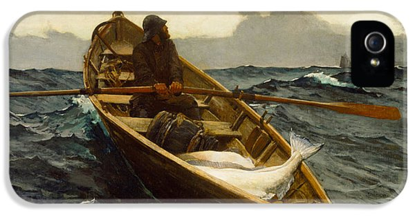 Homer iPhone 5 Cases - The Fog Warning iPhone 5 Case by Winslow Homer