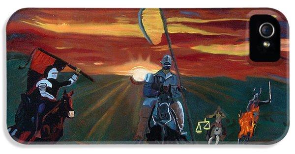 Four Horsemen Of The Apocalypse iPhone 5 Cases - The Four Horsemen of the Apocalypse iPhone 5 Case by John Paul Blanchette