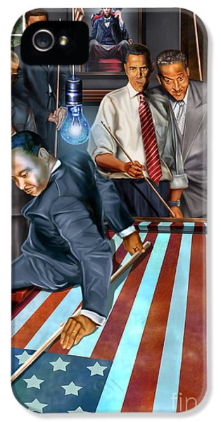 President Obama iPhone 5 Cases - The Game Changers and Table runners iPhone 5 Case by Reggie Duffie