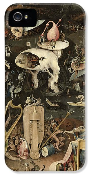 Insanity iPhone 5 Cases - The Garden Of Earthly Delights, C.1500 Oil On Panel Detail Of 3425 iPhone 5 Case by Hieronymus Bosch