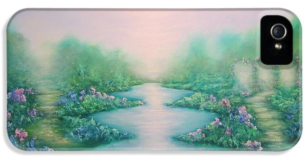 Dreamscape iPhone 5 Cases - The Garden of Peace iPhone 5 Case by Hannibal Mane