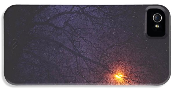 Snow iPhone 5 Cases - The Glow Of Snow iPhone 5 Case by Carrie Ann Grippo-Pike
