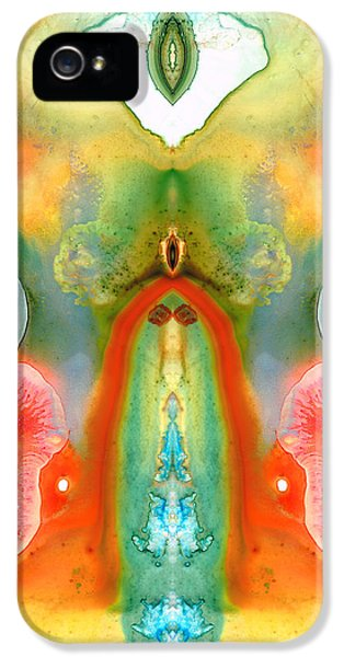 Native American Indian iPhone 5 Cases - The Goddess - Abstract Art by Sharon Cummings iPhone 5 Case by Sharon Cummings