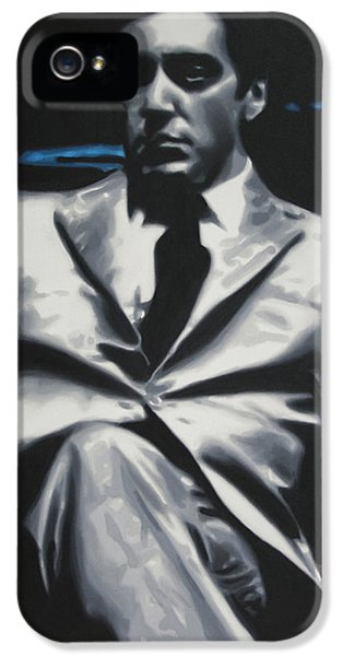 American Crime Film iPhone 5 Cases - The Godfather 2013 iPhone 5 Case by Luis Ludzska