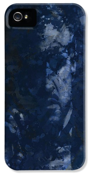 Albert S. Ruddy iPhone 5 Cases - The Godfather Blue Splats iPhone 5 Case by Brian Reaves