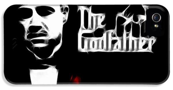 James Gandolfini iPhone 5 Cases - The Godfather iPhone 5 Case by Michael Braham