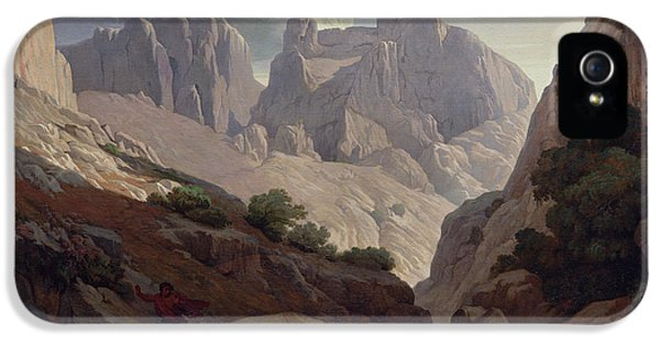 Atlas iPhone 5 Cases - The Gorges Of Atlas, 1843 Oil On Canvas iPhone 5 Case by Paul Jean Flandrin