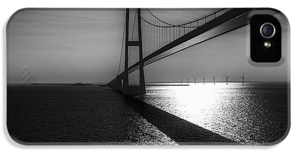 Connection iPhone 5 Cases - The Great Belt Bridge iPhone 5 Case by Erik Brede