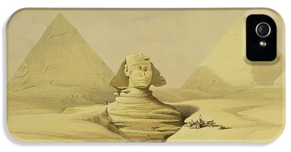 Deserted iPhone 5 Cases - The Great Sphinx and the Pyramids of Giza iPhone 5 Case by David Roberts