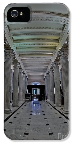 House Of Representatives iPhone 5 Cases - The Hall of Columns iPhone 5 Case by Susan Candelario