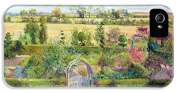 Gated iPhone 5 Cases - The Herb Garden After The Harvest iPhone 5 Case by Timothy Easton