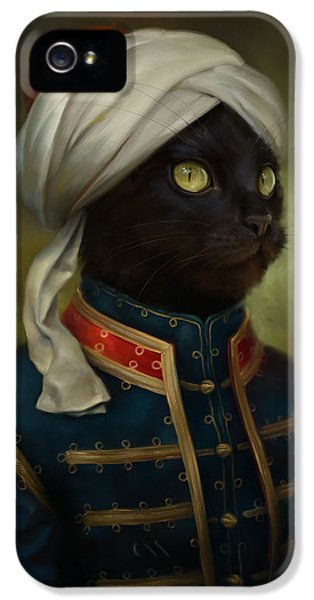 Feature iPhone 5 Cases - The Hermitage Court Moor Cat iPhone 5 Case by Eldar Zakirov