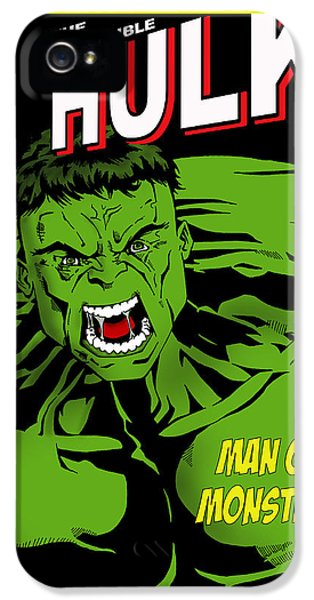 Dc iPhone 5 Cases - The Incredible Hulk iPhone 5 Case by Mark Rogan
