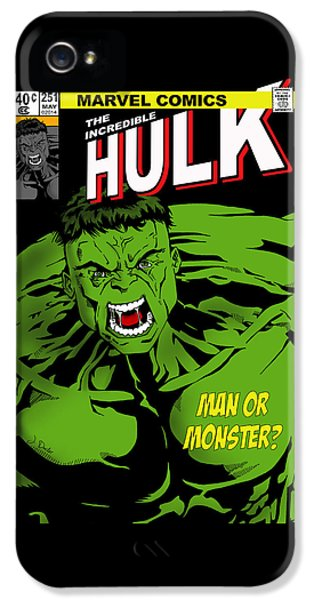 Flash iPhone 5 Cases - The Incredible Hulk iPhone 5 Case by Mark Rogan
