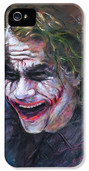 Circles iPhone 5 Cases - The Joker Heath Ledger  sm iPhone 5 Case by Ylli Haruni