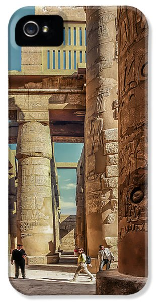 Archeology iPhone 5 Cases - The Karnak Temple iPhone 5 Case by Erik Brede