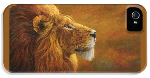 Lion iPhone 5 Cases - The King iPhone 5 Case by Lucie Bilodeau