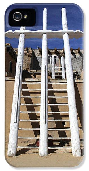 Pueblo iPhone 5 Cases - The Ladder Acoma Pueblo iPhone 5 Case by Mike McGlothlen