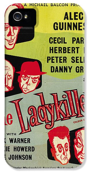 British Crime Film iPhone 5 Cases - The Ladykillers - 1955 iPhone 5 Case by Nomad Art And  Design