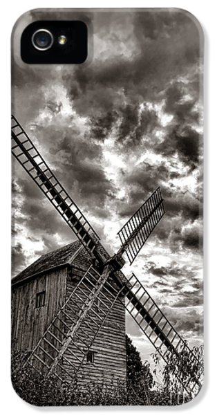 Windmill iPhone 5 Cases - The Last Windmill iPhone 5 Case by Olivier Le Queinec