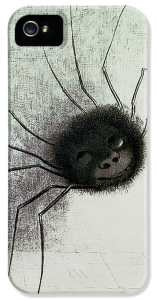 Spider iPhone 5 Cases - The Laughing Spider iPhone 5 Case by Odilon Redon