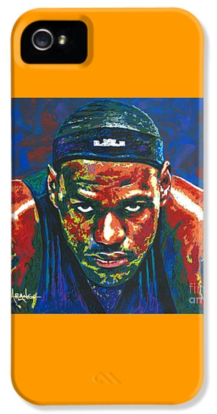 The Lebron Death Stare IPhone 5 / 5s Case by Maria Arango