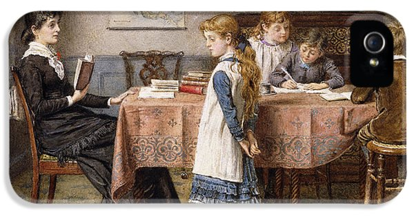 Clothing iPhone 5 Cases - The Lesson iPhone 5 Case by  George Goodwin Kilburne