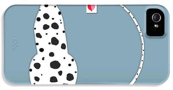 The Letter D For Dalmatian IPhone 5 / 5s Case by Valerie Drake Lesiak
