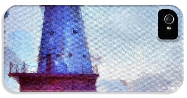 Lighthouse iPhone 5 Cases - The Light House iPhone 5 Case by Jeff Klingler