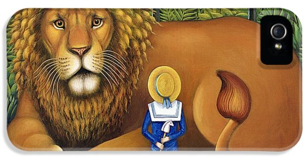 Mane iPhone 5 Cases - The Lion And Albert, 2001 iPhone 5 Case by Frances Broomfield