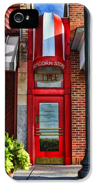 Illinois iPhone 5 Cases - The Little Popcorn Shop in Wheaton iPhone 5 Case by Christopher Arndt
