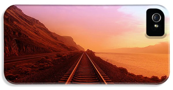 Dreamscape iPhone 5 Cases - The Long Walk To No Where  iPhone 5 Case by Jeff  Swan