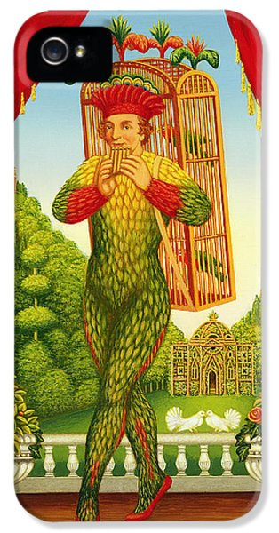 Dove iPhone 5 Cases - The Magic Flute, 1998 Oil & Tempera On Panel iPhone 5 Case by Frances Broomfield