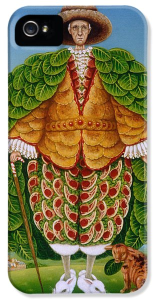 The New Vestments Ivor Cutler As Character In Edward Lear Poem, 1994 Oils And Tempera On Panel IPhone 5 / 5s Case by Frances Broomfield