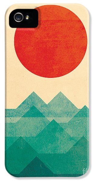 Minimalist iPhone 5 Cases - The Ocean the sea the wave iPhone 5 Case by Budi Satria Kwan