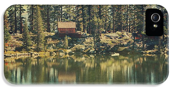 Lake iPhone 5 Cases - The Old Days by the Lake iPhone 5 Case by Laurie Search