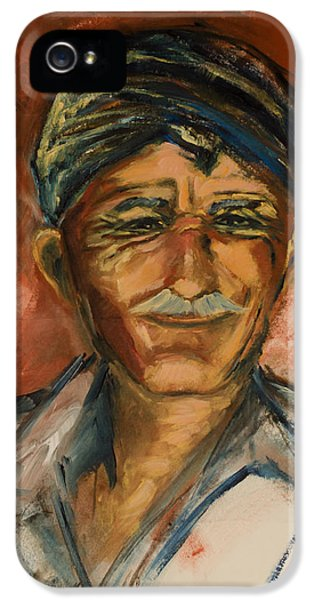 Proud iPhone 5 Cases - The Old Greek Man iPhone 5 Case by Elise Palmigiani