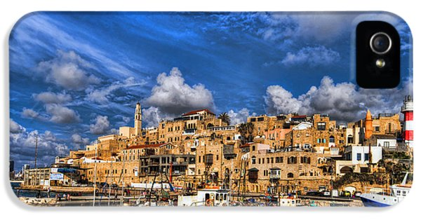Judaica iPhone 5 Cases - the old Jaffa port iPhone 5 Case by Ron Shoshani