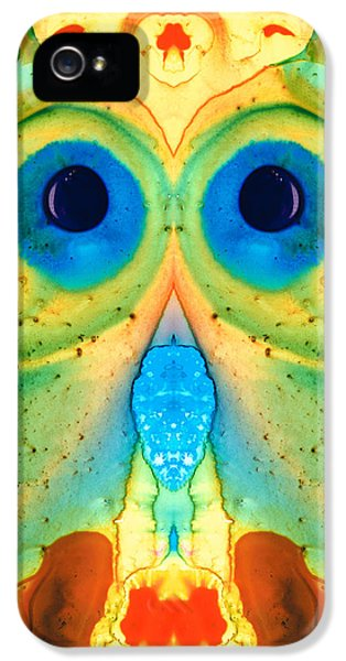 Eco iPhone 5 Cases - The Owl - Abstract Bird Art by Sharon Cummings iPhone 5 Case by Sharon Cummings