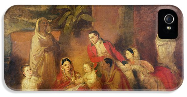Social History iPhone 5 Cases - The Palmer Family, 1785 Oil On Canvas iPhone 5 Case by Johann Zoffany